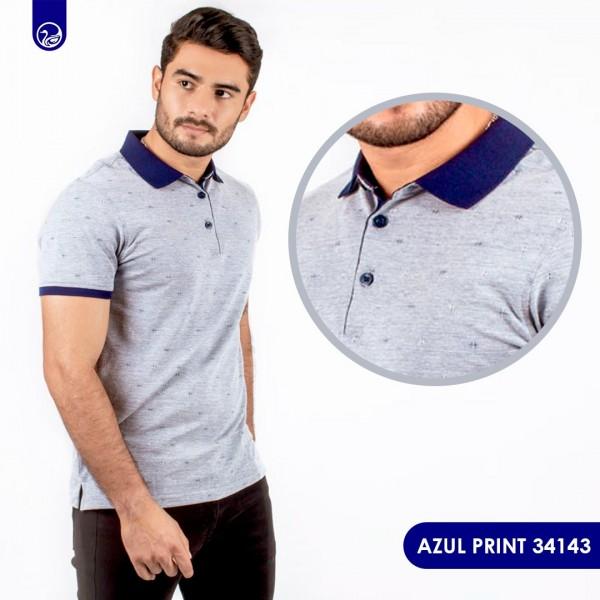 Polo Premium Pacer Azul Print