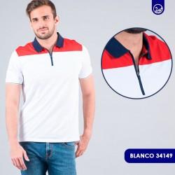 Polo Premium Pacer Blanco con Rojo