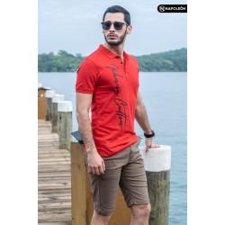 Polo Premium Johnny Cotton Rojo