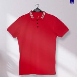 Polo Premium Johnny Cotton Rojo con Letra en el Cuello