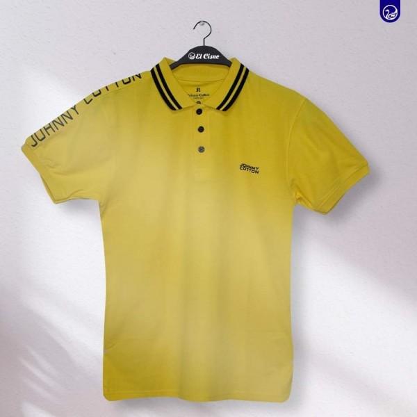 Polo Premium Jonny Cotton  Amarillo con letras