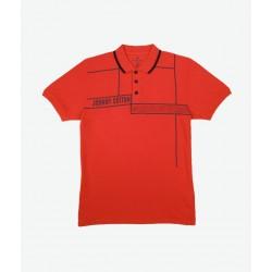 Polo Premium Johnny Cotton Rojo Carmín