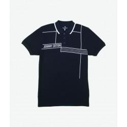 Polo Premium Johnny Cotton  Azul Marino