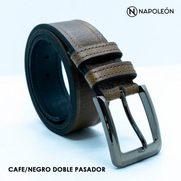 Cincho Napoleón Café Con Negro/Doble Pasador