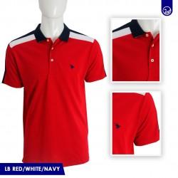 Polo Pique Long Beach Polo Club Red/White/Navy
