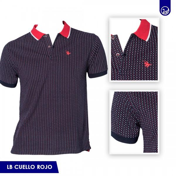 Polo Pique Long Beach Polo Club DarK Cuello Rojo