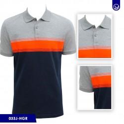 Polo Premium Carven Heather Gray/orange