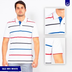 Polo Premium Carven White/Red/blue
