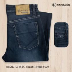 Pantalón Napoleón Skinny Negro Mate