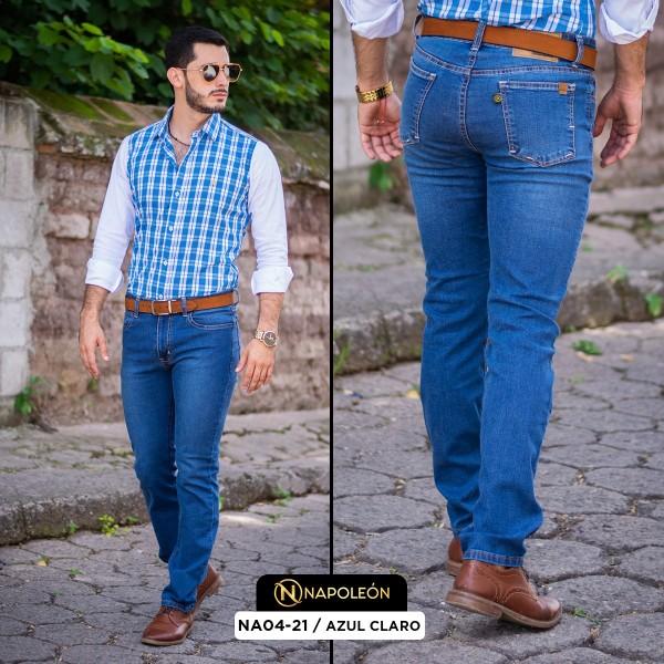 Pantalón Napoleón Skinny Azul Claro